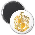 Hufflepuff Crest - Splattered 2 Inch Round Magnet