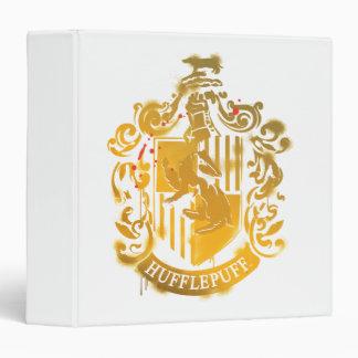 Hufflepuff Crest - Splattered 3 Ring Binder