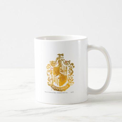 Hufflepuff Crest - Splattered Coffee Mug