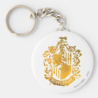 Hufflepuff Crest - Splattered Keychain