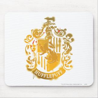Hufflepuff Crest - Splattered Mouse Pad