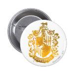 Hufflepuff Crest - Splattered Pinback Button