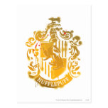 Hufflepuff Crest - Splattered Postcard