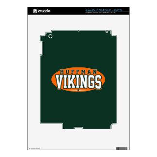 Huffman High School Vikings iPad 3 Skins