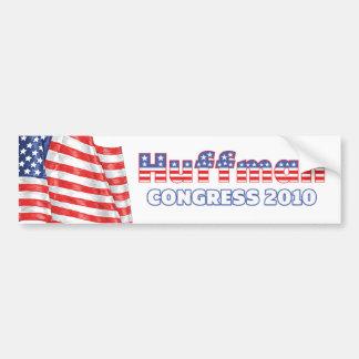 Huffman Patriotic American Flag 2010 Elections Car Bumper Sticker