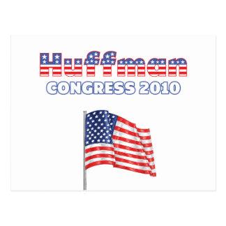 Huffman Patriotic American Flag 2010 Elections Postcard