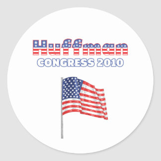 Huffman Patriotic American Flag 2010 Elections Round Stickers
