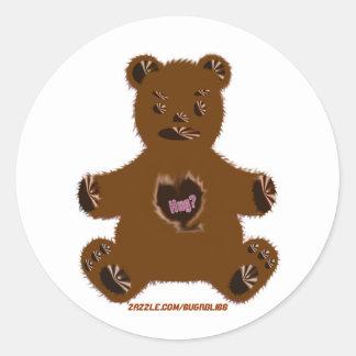 Hug-a-bear Round Stickers