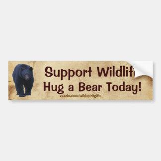 HUG A BEAR Wildlife Support Funny Bumper Sticker Car Bumper Sticker
