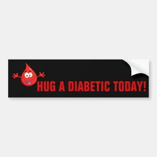 Hug a Diabetic Bumper Sticker