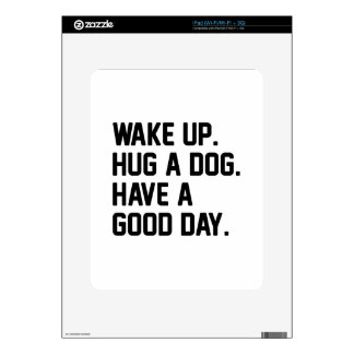 Hug a Dog iPad Decal