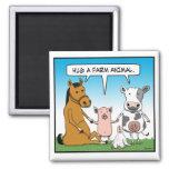 Hug a Farm Animal magnet