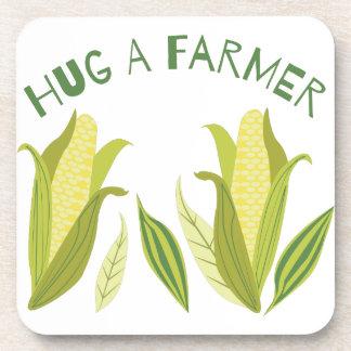 Hug A Farmer Drink Coaster