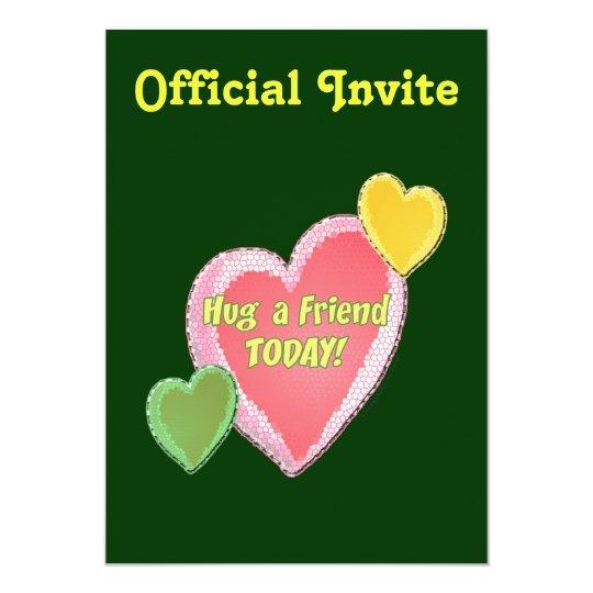 Hug A Friend Hearts Card