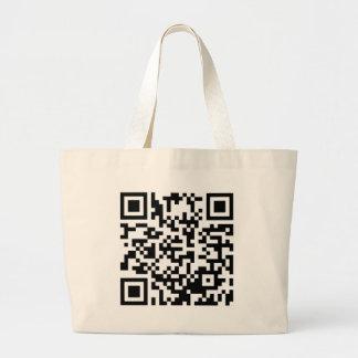Hug A Geek QR Code Large Tote Bag