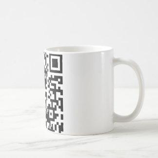 Hug A Geek QR Code Classic White Coffee Mug