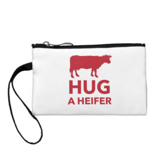 Hug a Heifer Funny Dairy Farm Coin Wallet
