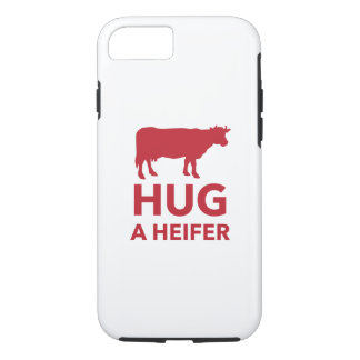 Hug a Heifer Funny Dairy Farm iPhone 7 Case