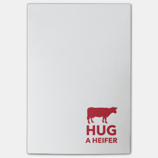 Hug a Heifer Funny Dairy Farm Post-it Notes