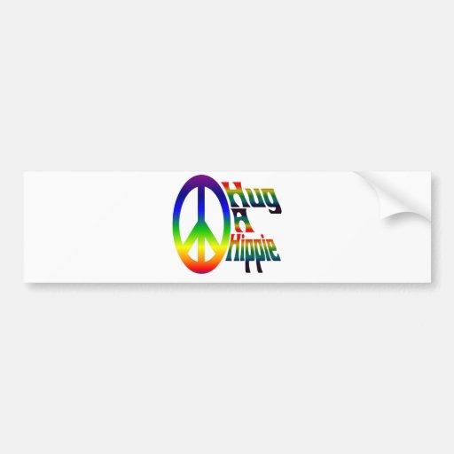 hug a hippie bumper sticker