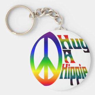 hug a hippie keychain