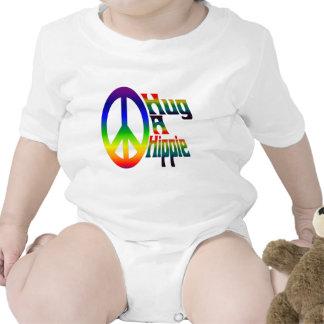 hug a hippie tee shirt