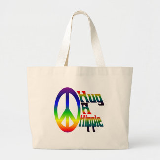 hug a hippie tote bag