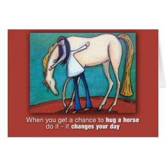 Hug a Horse Card