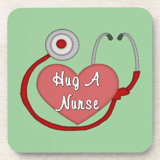 Hug A Nurse Beverage Coaster