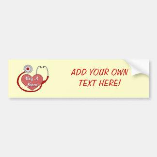 Hug A Nurse! Bumper Sticker
