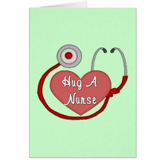 Hug A Nurse Card