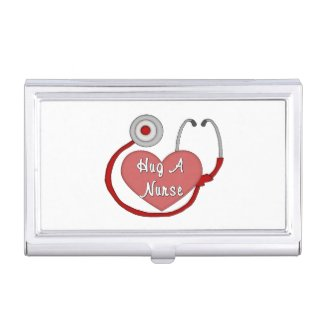 Hug A Nurse Business Card Case