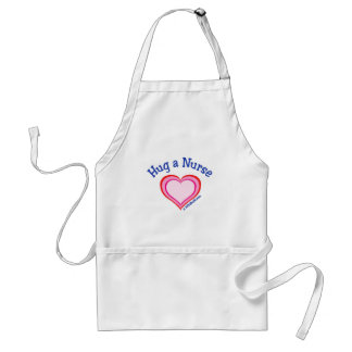Hug a Nurse Heart Adult Apron