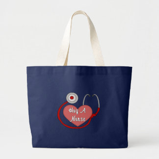 Hug A Nurse Large Tote Bag
