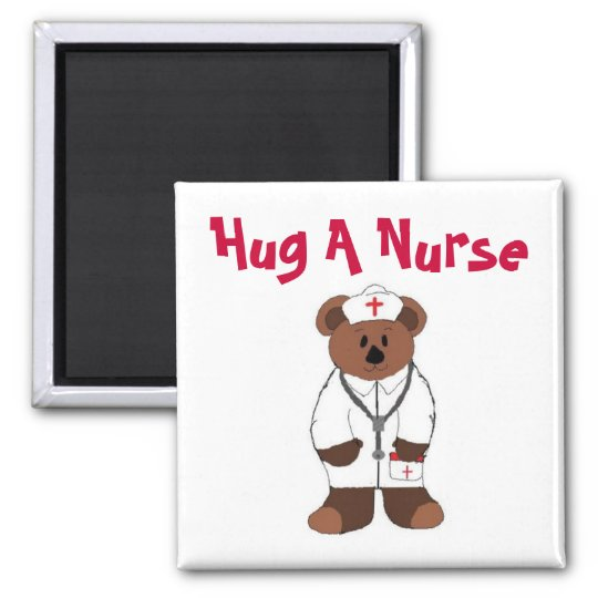 Hug A Nurse Magnet