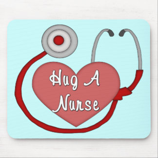 Hug A Nurse! Mouse Pad