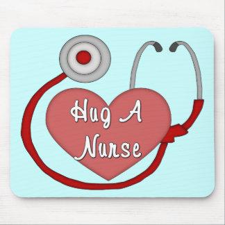 Hug A Nurse! Mouse Pads