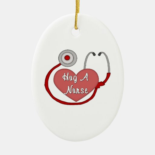 Hug A Nurse Ornaments