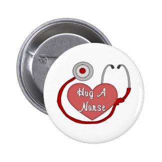 Hug A Nurse Pinback Button