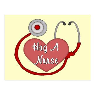 Hug A Nurse! Postcard