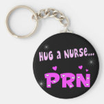 Hug a Nurse PRN Basic Round Button Keychain