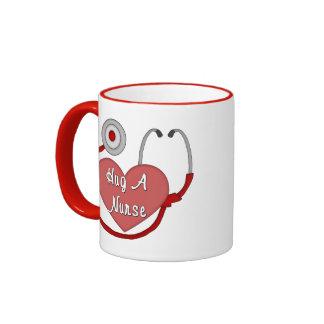 Hug A Nurse! Ringer Coffee Mug