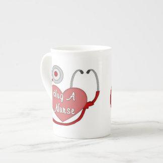 Hug A Nurse Porcelain Mugs