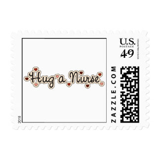 Hug a Nurse T-shirts and Gifts Stamp