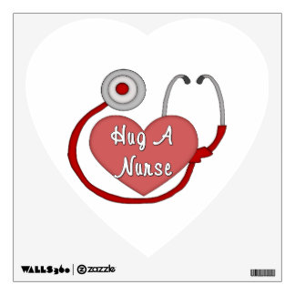 Hug A Nurse Wall Decal
