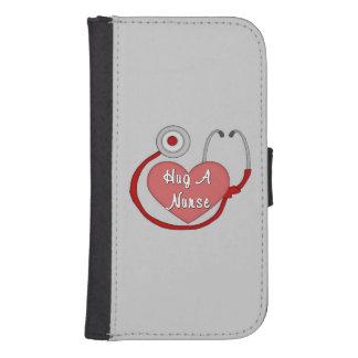 Hug A Nurse Wallet Phone Case For Samsung Galaxy S4