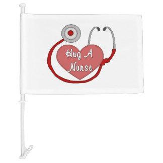 Hug A Nurse Car Flag