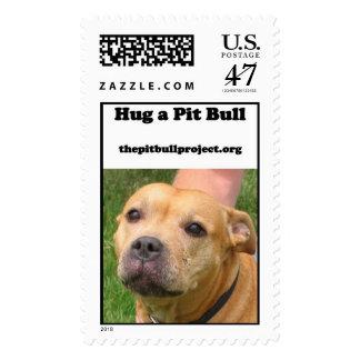 hug a pit bull postage
