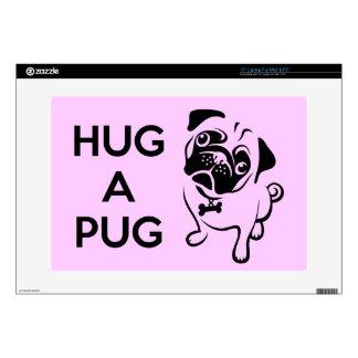"Hug a Pug 15"" Laptop Skin"