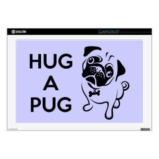 "Hug a Pug 17"" Laptop Skin"